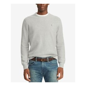 Mens Cotton Textured Crewneck Sweater