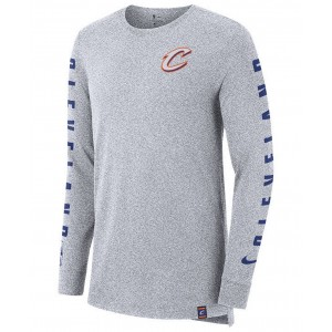 Mens Cleveland Cavaliers City Elevated Long Sleeve Dry T-Shirt