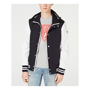 Mens Lightweight Seersucker Colorblocked Jacket