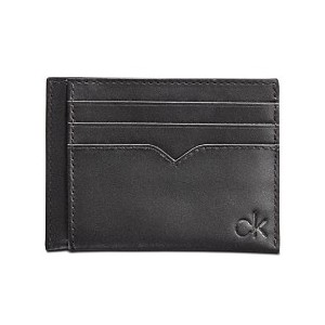 Mens Leather Logo Card Case