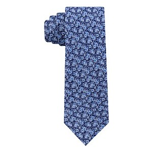 Mens Mini Floral Slim Linen Tie