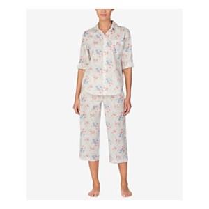 Petite Top and Capri Pants Cotton Pajama Set