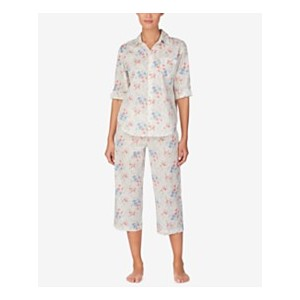 Top and Capri Pants Cotton Pajama Set