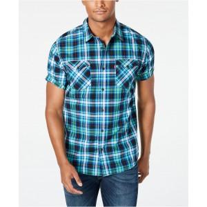 Mens Dual Pocket Plaid Shirt