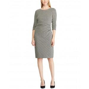 Petite Houndstooth Jacquard Dress