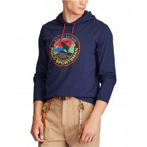 Mens Big & Tall Hooded Jersey Sportsman T-Shirt