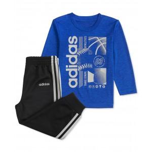 Baby Boys Sports-Print T-Shirt & Pants Set