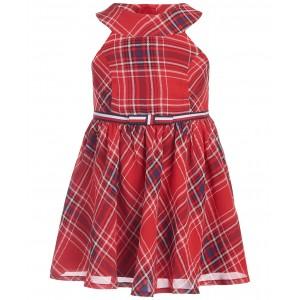 Baby Girls Plaid Chiffon Dress & Panty