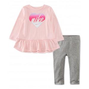 Baby Girls 2-Pc. Heart Peplum Tunic & Leggings Set