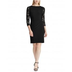 Petite Jersey Lace-Sleeve Dress