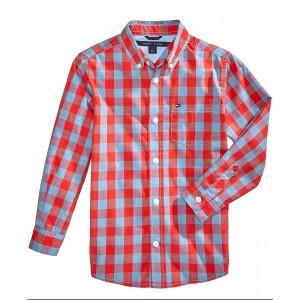 Little Boys Box-Plaid Cotton Shirt
