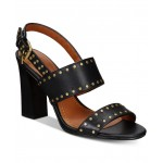 Rylie Stacked-Heel Dress Sandals