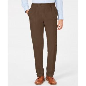 Mens Classic/Regular Fit Corduroy Double Reverse Pleated Dress Pants