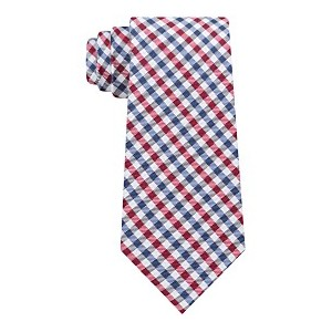 Mens Mini Gingham Silk Tie