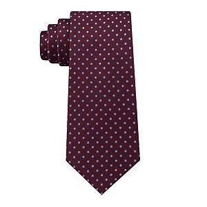Mens Pin Dot Silk Tie