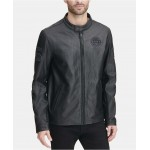 Mens Leather Moto Jacket, Created for Macys