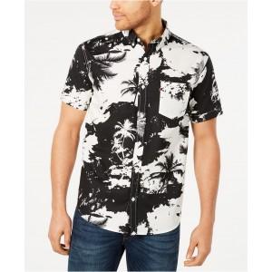 Mens Mozell Palm-Print Poplin Shirt