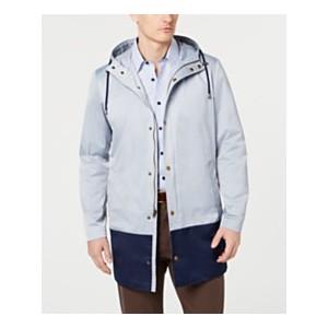 Mens Classic-Fit Colorblocked Raincoat
