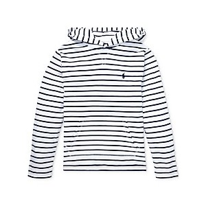Big Boys Striped Cotton Jersey Hooded T-Shirt