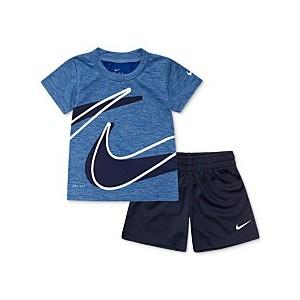 Baby Boys 2-Pc. Dri-FIT Swoosh T-Shirt & Shorts Set