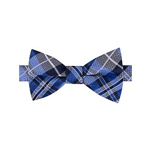 Mens West Side Plaid Pre-Tied Silk Bow Tie