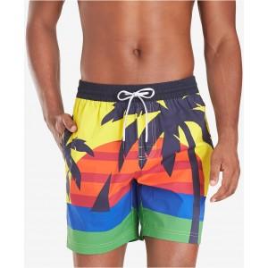 Mens Darcy TH Flex Stretch Tropical-Print 6-1/2 Swim Trunks