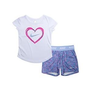 Baby Girls 2-Pc. Dri-FIT T-Shirt & Shorts Set