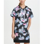Sport Printed Short-Sleeve Hoodie Dress, Created for Macys