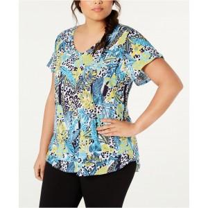 Plus Size Cotton Island Cheetah Printed T-Shirt