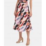 Printed Tie-Waist Skirt