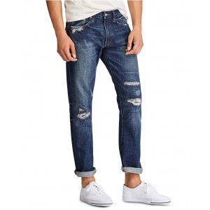Mens Varick Slim Straight Distressed Jeans