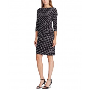 Petite Print Jersey Dress