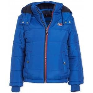 Baby Boys Steven Navy Blue Colorblocked Puffer Jacket