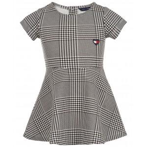 Baby Girls Ponte-Knit Houndstooth Dress