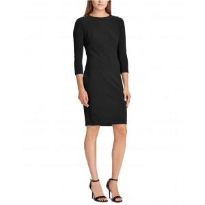 Petite Embellished-Placket Jersey Dress