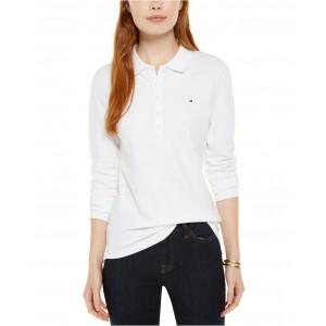 Long-Sleeve Polo Top