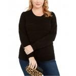 Plus Size Tinsel Stripe Sweater