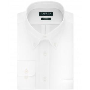 Mens Classic-Fit Solid Dress Shirt