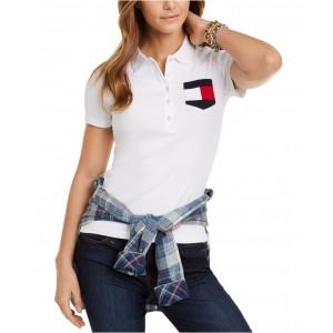 Cotton Flag-Pocket Polo Shirt