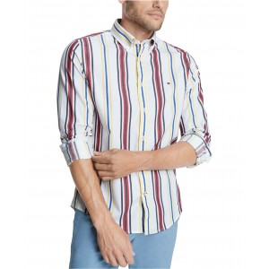 Mens Striped Stretch Shirt