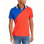 Mens Seaport Custom-Fit Colorblocked Logo-Print Polo Shirt