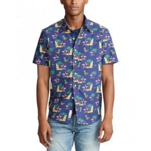 Mens Big & Tall Classic-Fit Floral Shirt
