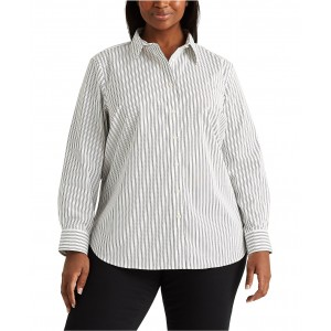 Plus-Size Non-Iron Button-Down Shirt