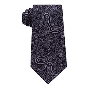 Mens Medium Paisley Silk Tie