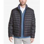 Mens Down Quilted Packable Logo Jacket