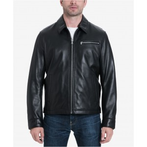 Mens Big & Tall James Dean Leather Jacket, Created for Macys
