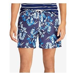 Mens Big & Tall Traveler Floral-Print Swim Trunks
