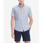 Mens Custom-Fit Nico Vertical Stripe Shirt, Created for Macys
