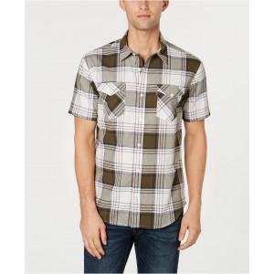 Mens Slim-Fit Plaid Shirt