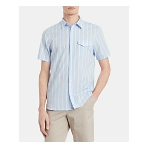 Mens Classic-Fit Yarn-Dyed Stripe Shirt